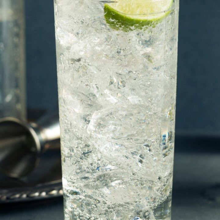 Glass with Vodka Tonic