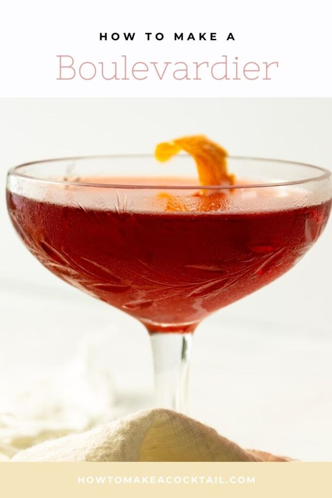 Boulevardier Cocktail in a glass