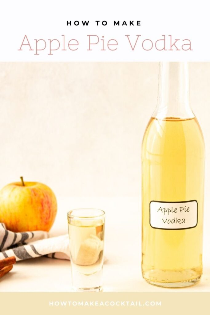 Apple Pie Vodka & shot glass